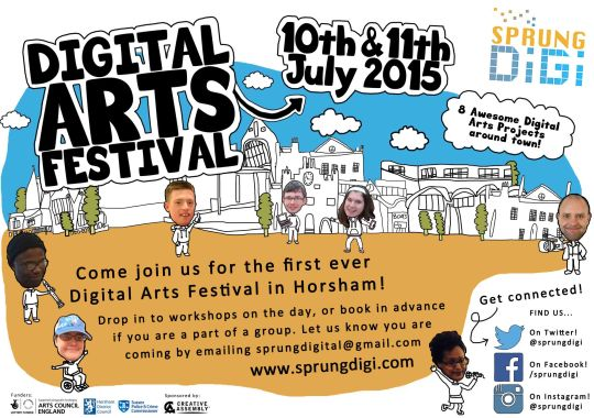 Marketing for SprungDigi Digital Arts Festival
